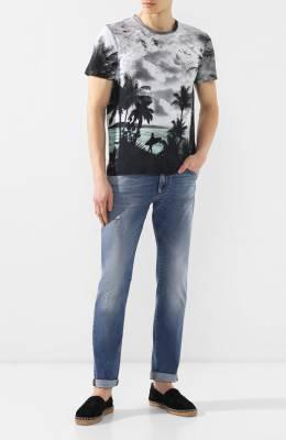 Хлопковая футболка Just Cavalli S03GC0520/N21406