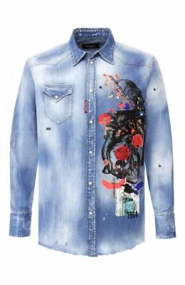 Джинсовая рубашка Dsquared2 S71DM0291/S30341