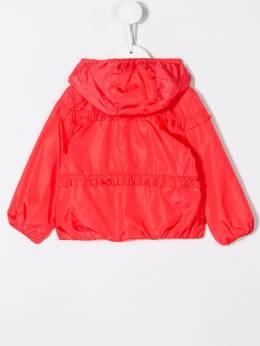 Moncler Kids куртка с капюшоном и сборками 461090554155