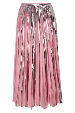 Серебристо-розовая юбка плиссе Marni 294118825