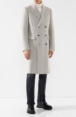 Двубортное пальто из смеси шерсти и шелка Ralph Lauren 798707829