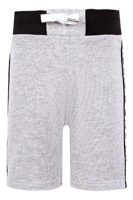 Серые спортивные шорты Givenchy Kids 2893120075
