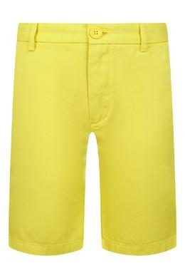 Желтые шорты Burberry Kids 1253120460