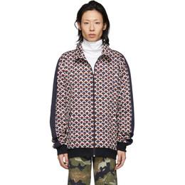 Valentino Navy Scale Zip-Up Sweater RV3MF01LWKF