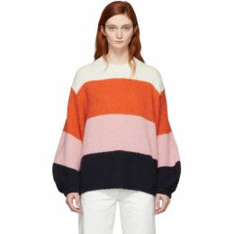 Acne Studios Pink and Navy Striped Kazia Sweater A60066