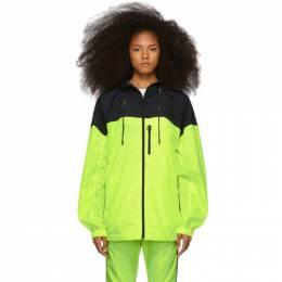 Off-White Yellow Nylon Windbreaker Jacket OMEA169S19D160156210