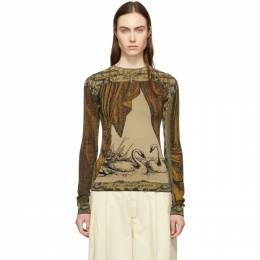 Acne Studios Gold and Brown Kittie Crewneck Sweater A60074