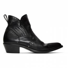Saint Laurent Black Studded Dakota Chelsea Boots 552756 00EYY