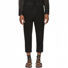 Ann Demeulemeester Black Lainecotton Trousers 1901-3400-167-099