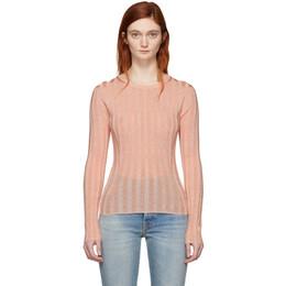 Acne Studios Pink Sitha Crewneck Sweater 193176