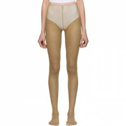 Gucci Tan Lurex Tights 191451F07604003GB