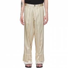 Ann Demeulemeester Off-White and Black Devon Trousers 1901-3412-180-005