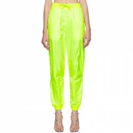 Off-White Yellow Two-Layer Lounge Pants OWCA085S19E000446200