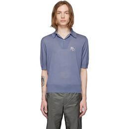 Prada Blue Knit Logo Polo 191962M21201104GB