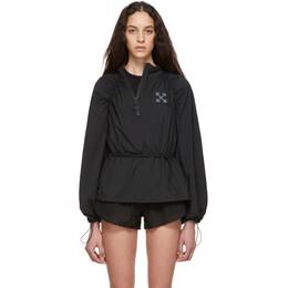Off-White SSENSE Exclusive Black WORKOUT Sport Techno Anorak Jacket OWEA128T19965048