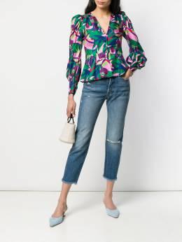 La Doublej приталенная блузка в стиле колор-блок SHI0015SIL001TOM0002146715