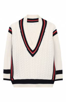 Хлопковый пуловер Burberry 8008793