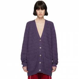 Gucci Purple Lurex Oversized Cardigan 572757 XKAJG