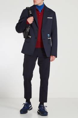 Красный лонгслив с воротником-поло Prada 40121958