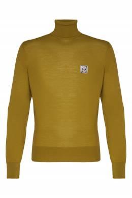 Джемпер цвета хаки с логотипом Prada 40121961