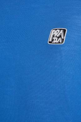 Синий джемпер с логотипом Prada 40121969