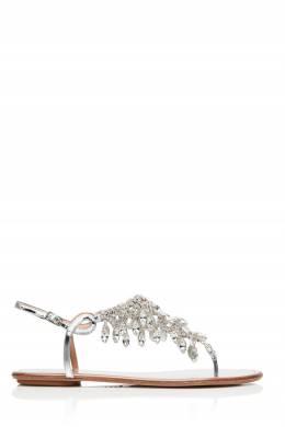 Сандалии Temptation Crystal с кристаллами Aquazzura 975122400