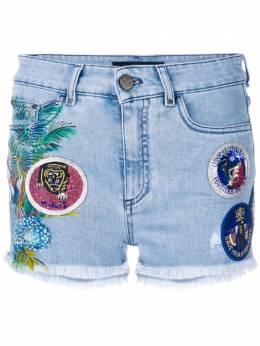 Mr & Mrs Italy джинсовые шорты с нашивками ST014E