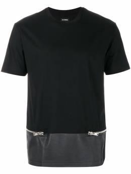 Les Hommes декорированная футболка с молниями LHE804ALE800A