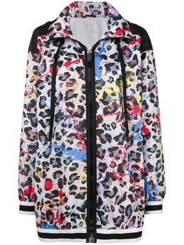 No Ka' Oi leopard print hoodie P3CJKNOKW65869A0