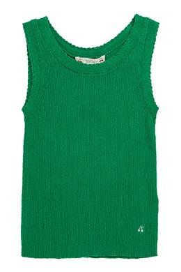 Ребристая зеленая майка Bonpoint 1210122562