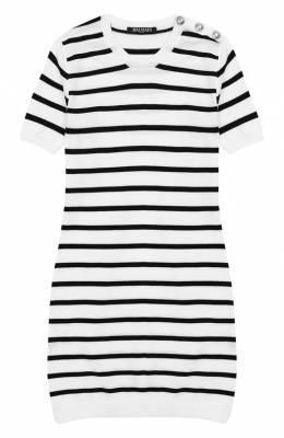 Хлопковое платье Balmain 6K1081/KC630/4-10