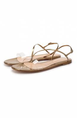 Комбинированные сандалии Gianvito Rossi G31147.05CU0.PLMTRME