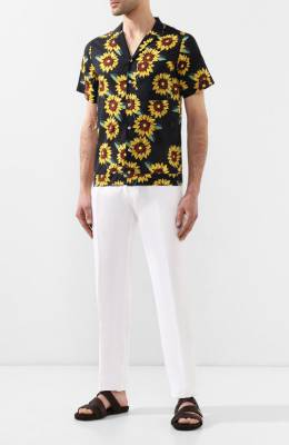 Хлопковая рубашка Jacquemus 195SH06/4008G