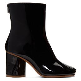 Maison Margiela Black Crushed Heel Ankle Boots S39WU0139 P2495