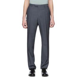 Boss Blue Wool Leenon1 Trousers 192085M19101401GB
