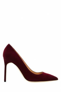 Бордовые туфли BB Manolo Blahnik 166124053