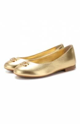 Кожаные балетки Dolce & Gabbana D10510/A6C66/24-28