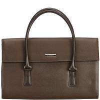 Burberry Dark Brown Leather Everyday Bag 159444 - 1