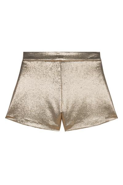 Золотистые блестящие шорты Maje 888125227 - 1