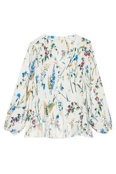 Плиссированная блузка с принтом Maje 888125183 - 1