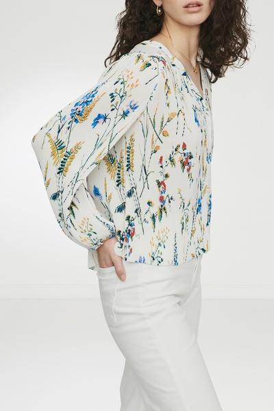 Плиссированная блузка с принтом Maje 888125183 - 2