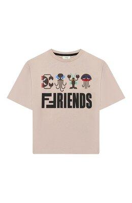 Хлопковая футболка Fendi JMI258/7AJ/3A-5A