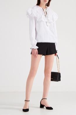 Блуза с объемным воротником и помпонами Miu Miu 375126365