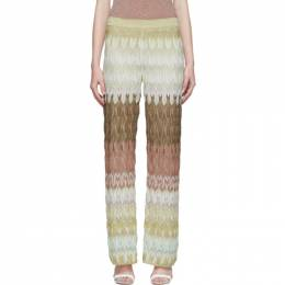 Missoni Multicolor Pull-On Lounge Pants MDI00095 BR000T