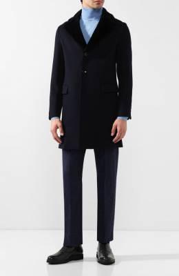 Кашемировое пальто с норковой отделкой воротника Andrea Campagna 18U039-TCASHVR