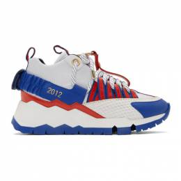 Pierre Hardy White and Blue Victor Cruz Edition VC1 Sneakers 192377M23600302GB