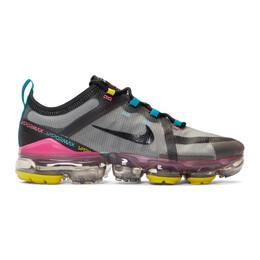 Nike Grey and Black Air VaporMax 2019 Sneakers 192011M23704210GB