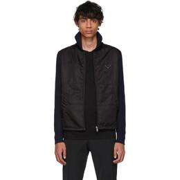 Prada Navy and Black Nylon Knit Jacket 192962M18000503GB