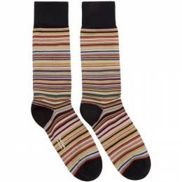 Paul Smith Three-Pack Multicolor Striped Socks 192260M22003501GB