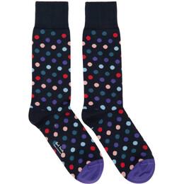 Paul Smith Navy Kool Dot Socks 192260M22000801GB